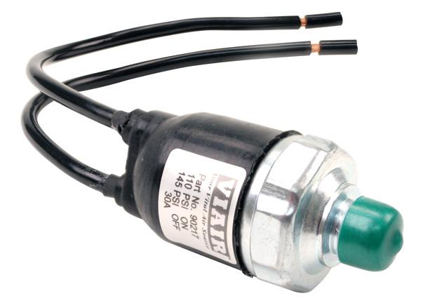 Датчик давления VIAIR 140/175 PSI 1/8M герметичный провода с увеличенным сечением