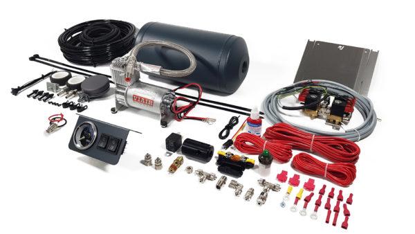 Двухконтурная система управления пневмоподвеской 2 120 V с ресивером Aride