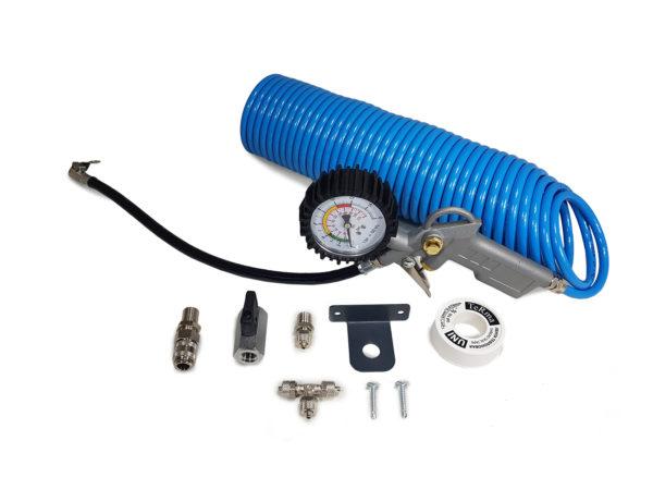 Комплект для подкачки колес с быстроразъемом шланг 9,5 метров