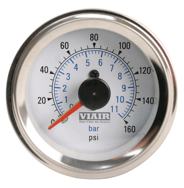 Манометр VIAIR 2 160 PSI 2 контура с подсветкой белый