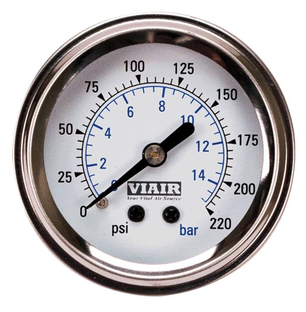 Манометр VIAIR 2 220 PSI с подсветкой белый