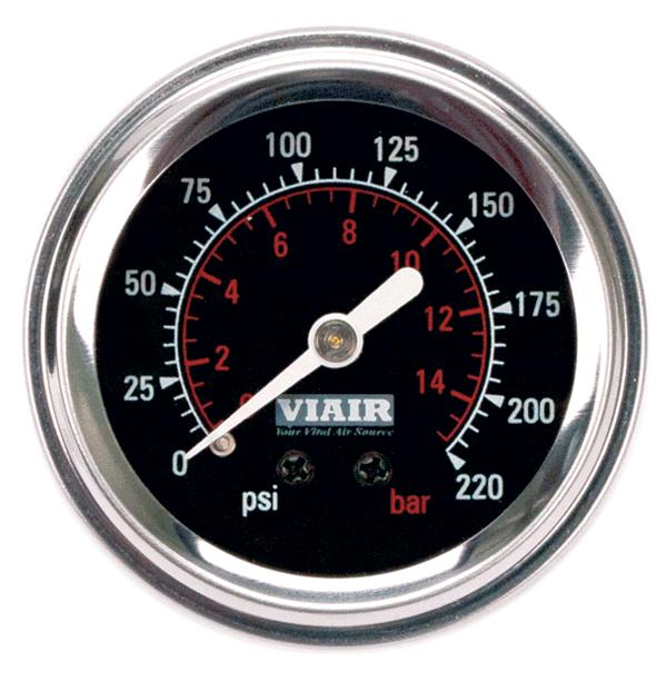 Манометр VIAIR 2 220 PSI с подсветкой черный